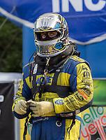 May 11, 2013; Commerce, GA, USA: NHRA funny car driver Matt Hagan during the Southern Nationals at Atlanta Dragway. Mandatory Credit: Mark J. Rebilas-