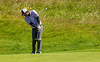 140719 | The 148th Open - Sunday Practice<br /> <br /> Kevin Kisner chips onto the 17th green during practice for the 148th Open Championship at Royal Portrush Golf Club, County Antrim, Northern Ireland. Photo by John Dickson - DICKSONDIGITAL