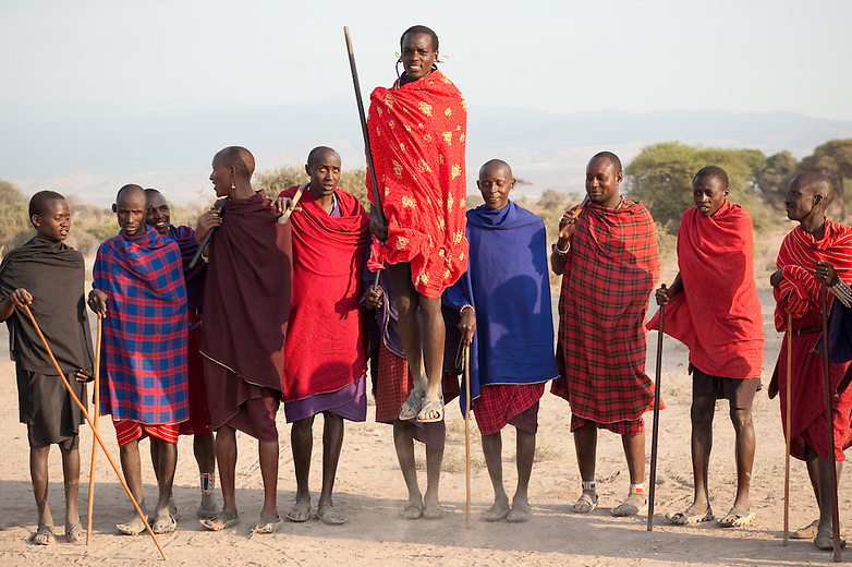 For warriors, or morans, there is always time to enjoy a dance. The jumps may be done with barefeet, but to avoid being pricked by thorns, shoes made out of old tires (locally known as akala) are popular. Footwear was traditionally made out of goat skin.