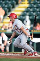 Palm Beach Cardinals first baseman Luke Voit (47) at bat during a game against the Bradenton Marauders on June 23, 2014 at McKechnie Field in Bradenton, Florida.  Bradenton defeated Palm Beach 11-6.  (Mike Janes/Four Seam Images)