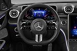 Car pictures of steering wheel view of a 2022 Mercedes Benz C-Class AMG-Line 4 Door Sedan Steering Wheel