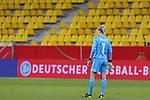 v.li.: Merle Frohms (Torhüterin, Torwart, Deutschland, 1) vor den leeren Tribünen, leeren Rängen, keine Zuschauer, leer Stadion, DIE DFB-RICHTLINIEN UNTERSAGEN JEGLICHE NUTZUNG VON FOTOS ALS SEQUENZBILDER UND/ODER VIDEOÄHNLICHE FOTOSTRECKEN. DFB REGULATIONS PROHIBIT ANY USE OF PHOTOGRAPHS AS IMAGE SEQUENCES AN/OR QUASI-VIDEO., 21.02.2021, Aachen (Deutschland), Fussball, Länderspiel Frauen, Deutschland - Belgien <br /> <br /> Foto © PIX-Sportfotos *** Foto ist honorarpflichtig! *** Auf Anfrage in hoeherer Qualitaet/Aufloesung. Belegexemplar erbeten. Veroeffentlichung ausschliesslich fuer journalistisch-publizistische Zwecke. For editorial use only.