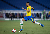 22nd July 2021; Stadium Yokohama, Yokohama, Japan; Tokyo 2020 Olympic Games, Brazil versus Germany; Matheus Cunha of Brazil breaks towards goal