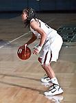 Texas-Arlington Mavericks forward Bo Ingram (1) in action against Hardin-Simmons Cowboys guard Matt Addison (1) in the game between the UTA Mavericks and the Hardin-Simmons Cowboys held at the University of Texas in Arlington's Texas Hall in Arlington, Texas. UTA leads Hardin-Simmons 45 to 25 at halftime.