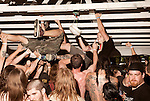 August 17, 2013. Richmond, Virginia.<br />  Pig Destroyer fans climbed into the ceiling of Stage 2.<br />  Continuing the tradition of their annual metal festival, GWAR headlined the GWAR BQ at Hadad's Lake, with guest bands such as X Cops, Cannabis Corpse, Pig Destroyer, Municipal Waste and several others.