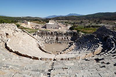Turkey, Province Antalya, Patara near Kalkan: Amphitheatre and ruins   Tuerkei, Provinz Antalya, Patara bei Kalkan: Amphitheater