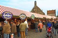 Christmas market stalls - Nurnberg - Germany