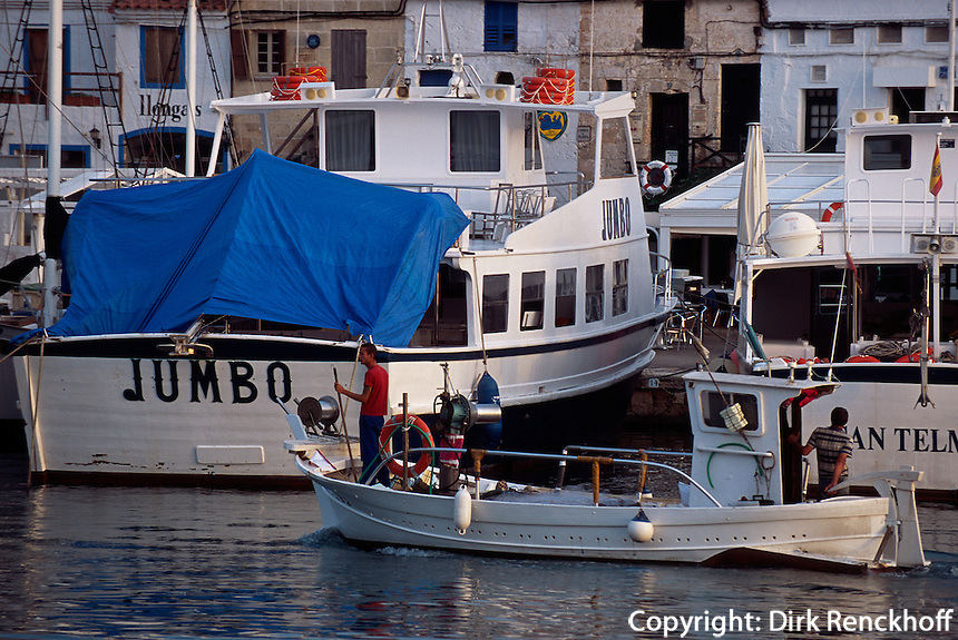 Spanien, Menorca, Hafen von  Ciutadella