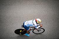 Fernanda Yapura (ARG)<br /> <br /> Women Elite Time trial from Imola to Imola (31.7km)<br /> <br /> 87th UCI Road World Championships 2020 - ITT (WC)<br /> <br /> ©kramon