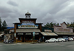 Main corner in Winthrop, Washington, a tourist destination at the east end of Washington's famous North Cascades Highway through North Cascades National Park.