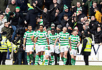 St Johnstone v Celtic…03.02.19…   McDiarmid Park    SPFL<br />Timothy Weah celebrates his goal<br />Picture by Graeme Hart. <br />Copyright Perthshire Picture Agency<br />Tel: 01738 623350  Mobile: 07990 594431