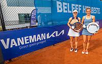 Amstelveen, Netherlands, 10 Juli, 2021, National Tennis Center, NTC, Amstelveen Womans Open, Doubles final: Suzan Lamens (NED) and Quirine Lemoine (NED) and Vaneman<br /> Photo: Henk Koster/tennisimages.com