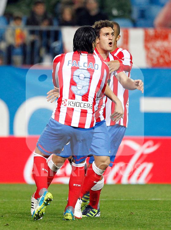 Madrid (05/05/2012).- Estadio Vicente Calderon..Liga BBVA.Atletico de madrid - Malaga Club de Futbol..Falcao, Koke...Photo: Alex Cid-Fuentes / ALFAQUI..