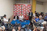 US Men's National Team Press Conference after FIFA World Cup qualifier against El Salvador. USA tied El Salvador 2-2 at Estadio Cuscatlán Stadium in El Salvador on March 28, 2009.