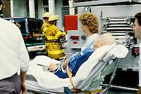 1987 File Photo - Montreal (Qc) Canada - - Montreal paramedics at work
