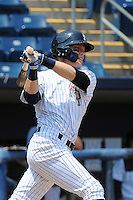 Staten Island Yankees infielder Matt Snyder (45) during game against the Aberdeen Ironbirds at Richmond County Bank Ballpark at St.George on July 18, 2012 in Staten Island, NY.  Staten Island defeated Aberdeen 3-2.  Tomasso DeRosa/Four Seam Images