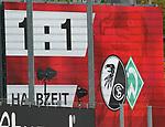 17.10.2020, Schwarzwald Stadion, Freiburg, GER, 1.FBL, SC Freiburg vs SV Werder Bremen<br /><br />im Bild / picture shows<br />Anzeigetafel mkit dem Ergebnis von 1:1<br /><br />Foto © nordphoto / Bratic<br /><br />DFL REGULATIONS PROHIBIT ANY USE OF PHOTOGRAPHS AS IMAGE SEQUENCES AND/OR QUASI-VIDEO.