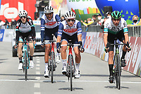 20th April 2021; Cycling Tour of the Alps Stage 2, Innsbruck, Feichten Im Kaunertal Austria;  Alejandro Osorio Caja Rural and Amanuel Ghebreigzabhier Trek-Segafredo, Mikel Nieve Team BikeExchange and Antonio Nibali Trek-Segafredo