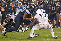 Pitt running back Qadree Ollison takes on Penn State safety Garrett Taylor (17). The Penn State Nittany Lions defeated the Pitt Panthers 51-6 on September 08, 2018 at Heinz Field in Pittsburgh, Pennsylvania.