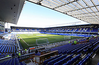 Pictured: Interior view of Goodison Park. Sunday 16 February 2014<br /> Re: FA Cup, Everton v Swansea City FC at Goodison Park, Liverpool, UK.