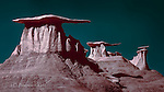 World of Wings, Bisti Badlands, New Mexico (Infrared) ©2016 James D Peterson.  It would be perfectly understandable for someone to believe that this place could not possibly exist on our world.  But I made this panoramic photograph (stitched from three images) without resorting to interplanetary travel.