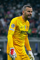 Milan, Italy - september 15 2021 - handanovic samir looks on Inter- Real Madrid champions league
