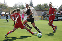 Jill Gilbeau (left) Leslie Osborne (10) Allie Long (9). Washington Freedom defeated FC Gold Pride 4-3 at Buck Shaw Stadium in Santa Clara, California on April 26, 2009.