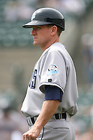 May 14th 2008:  Coach Rick Eckstein (4) of the Columbus Clippers, Class-AAA affiliate of the Washington Nationals, during a game at Frontier Field in Rochester, NY.  Photo by Mike Janes/Four Seam Images