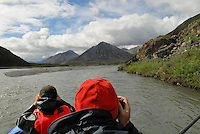 Jonathan and Edward Bennett photograph the scenery along the Kongakut River, in Alaska's Arctic National Wildlife Refuge.