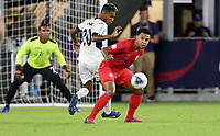 WASHINGTON, D.C. - OCTOBER 11: Weston McKennie #8 of the United States turns with the ball during their Nations League game versus Cuba at Audi Field, on October 11, 2019 in Washington D.C.