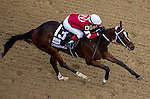 MAY 2, 2014: Untapable, ridden by Rosie Napravnik, takes the lead in the final stretch of the Kentucky Oaks Stakes at Churchill Downs in Lexington, KY. Jon Durr/ESW/CSM