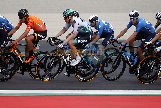 Wilco Kelderman (NED) Bora-Hansgrohe in the peloton during Stage 6 of the 100th edition of the Volta Ciclista a Catalunya 2021, running 193.8km from Tarragona to Mataro', Spain. 27th March 2021.   <br /> Picture: Bora-Hansgrohe/Luis Angel Gomez/BettiniPhoto | Cyclefile<br /> <br /> All photos usage must carry mandatory copyright credit (© Cyclefile | Bora-Hansgrohe/Luis Angel Gomez/BettiniPhoto)