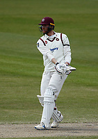 16th April 2021; Emirates Old Trafford, Manchester, Lancashire, England; English County Cricket, Lancashire versus Northants;  Rob Keogh of Northamptonshire at bat