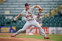 Palm Beach Cardinals relief pitcher Zach Prendergast (19) during a Florida State League game against the Bradenton Marauders on May 10, 2019 at LECOM Park in Bradenton, Florida.  Bradenton defeated Palm Beach 5-1.  (Mike Janes/Four Seam Images)