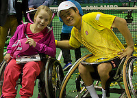 Rotterdam, The Netherlands. 15.02.2014. Shingo Kunieda(JPN) at the ABN AMRO World Wheelchair tennis Tournament <br /> Photo:Tennisimages/Henk Koster