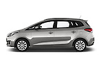 Car Driver side profile view of a 2014 KIA CARENS Lounge 5 Door Mini MPV 2WD Side View
