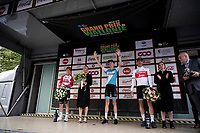 race winner Krist Neilands (LAT/Israel Cycling Academy) on the podium<br /> <br /> 60th Grand Prix de Wallonie 2019<br /> 1 day race from Blegny to Citadelle de Namur (BEL / 206km)<br /> <br /> ©kramon