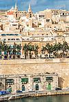 View of the historic city of Valletta in Malta.