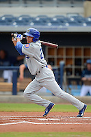 Daytona Cubs outfielder Pin-Chieh Chen (20) during a game against the Charlotte Stone Crabs on July 19, 2013 at Charlotte Sports Park in Port Charlotte, Florida.  The game was called in the seventh inning tied at zero due to rain.  (Mike Janes/Four Seam Images)