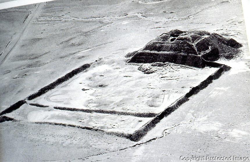 World Civilization:  Moche culture--a Moche pyramid complex, otherwise unidentified.  Brian Fagan, KINGDOMS OF GOLD.