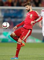 Spain's Gerard Pique during 15th UEFA European Championship Qualifying Round match. November 15,2014.(ALTERPHOTOS/Acero) /NortePhoto nortephoto@gmail.com