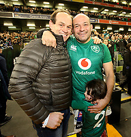 Saturday 17th November 2018 | Ireland vs New Zealand<br /> <br /> Simon Best congratulates his younger brother Rory after  the 2018 Guinness Series between Ireland and Argentina at the Aviva Stadium, Lansdowne Road, Dublin, Ireland. Photo by John Dickson / DICKSONDIGITAL