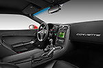 Passenger side dashboard view of a 2011 Chevrolet Corvette Z06 .