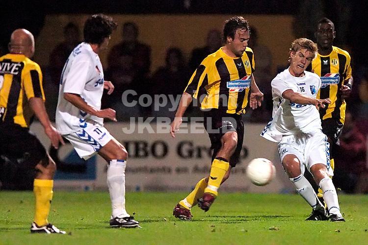 veendam - agovv jupiler league seizoen 2007-2008 21-09-2007  lip in duel met mulder