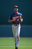 Minnesota Twins center fielder Byron Buxton (25) jogs to the dugout during a Spring Training game against the Baltimore Orioles on March 7, 2016 at Ed Smith Stadium in Sarasota, Florida.  Minnesota defeated Baltimore 3-0.  (Mike Janes/Four Seam Images)
