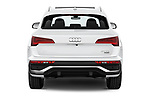 Straight rear view of 2021 Audi Q5-Sportback S-Line 5 Door SUV Rear View  stock images