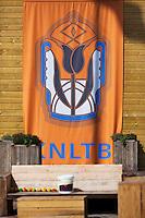 August 24, 2014, Netherlands, Amstelveen, De Kegel, National Veterans Championships, KNLTB banner<br /> <br /> Photo: Tennisimages/Henk Koster