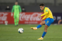 13th October 2020; National Stadium of Peru, Lima, Peru; FIFA World Cup 2022 qualifying; Peru versus Brazil;  Philippe Coutinho of Brazil takes a shot on goal