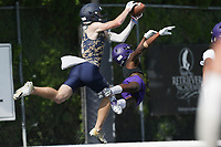 Heritage Hall Orie Walker (2) score, Thursday, July 15, 2021 during the Southwest Elite 7on7 tournament at Shiloh Christian in Springdale. Check out nwaonline.com/210716Daily/ for today's photo gallery. <br /> (NWA Democrat-Gazette/Charlie Kaijo)