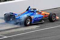 28th May 2021; Indianapolis, Indiana, USA;  NTT Indy Car Series driver Scott Dixon (9) pulls out of the pits during Miller Lite Carb Day as teams prepare for the 105th running of the Indianapolis 500
